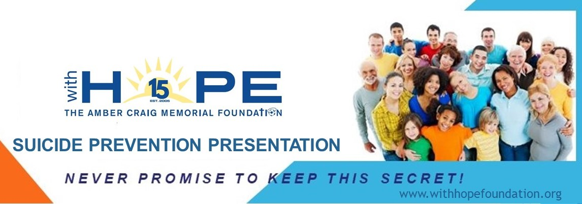 Suicide Prevention Presentation - Never Promise to Keep this Secret